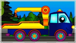 Magical Rainbow  Learn Colours With Rescue Tow Truck - Children's Educational Videos