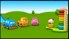 The Clever Cars  Caterpillar Toy  Learn Colours With 3d Children's Cartoons