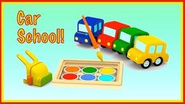 Smart Cars GO TO SCHOOL  Kids Cars Cartoons - 3D CGI Cartoons For Children  Car Videos For Children