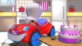 Kids Cartoons In 3D Animation   Car And Birthday Cake