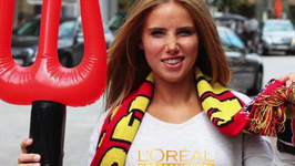 Belgian Fan Scores Modeling Gig After Cheering at World Cup Game