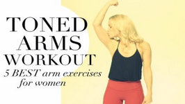 TONED ARMS WORKOUT - 5 BEST ARM EXERCISES for WOMEN