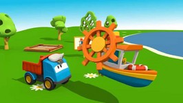 Kid's 3D Construction Cartoons For Children 9  Leo's Sea Boat