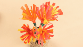 Paper And Straw Flower