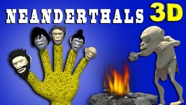 Crazy NEANDERTHALS Finger Family Funny 3D Finger Family RhymesMY KIDDY WORLD 3D RHYMES