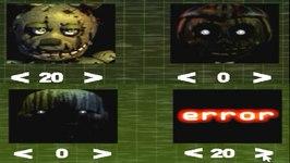 Five Nights at Freddy's 3 Custom Night  Night 7 Springtrap 20 and Error 20