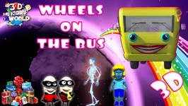 The Wheels On The Bus Go Round and Round - 3D Nursery Rhymes From My Kiddy World