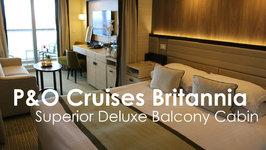P&O Cruises Britannia Superior Deluxe Balcony Cabin
