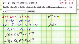 Solve Linear Second Order Homogeneous DE with Constant Coefficients to Find an Initial Condition