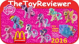 2016 My Little Pony McDonalds Happy Meal Toys COMPLETE SET 8 Unboxing Toy Review