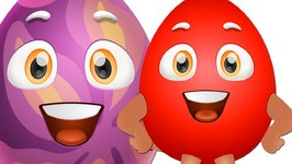 Learn RED Colour with Funny Egg Surprise and RED Color Song - ChuChuTV Surprise Eggs Colors for Kids