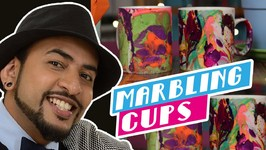 Mad Stuff With Rob - Holi Special- How To Marble Cups- Feat. Mansi Zaveri From Kidsstoppress