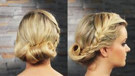 How To Do A Rolled And Plaited Updo