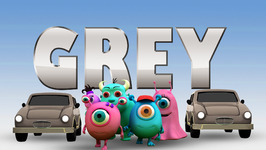 Grey  Monster Family Colors and Shapes