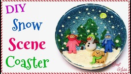 DIY Snow Scene Resin Coaster  Another Coaster Friday  Craft Klatch