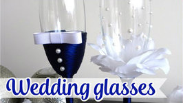 Decoration for Wedding Glasses - First Toast