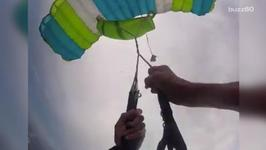 Video Shows Scary Moments as Skydiver's Parachute Malfunctions