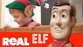 Toy Story 4 - Elf On The Shelf Is ALIVE - Woody Buzz Christmas Story Pixar Disney