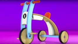 Animation For Kids, Eggy Baby 3D Cartoon. Collect Bicycle Puzzle Games.