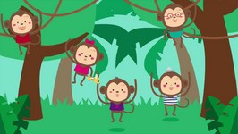 5 Little Monkeys Swinging In A Tree Song Counting Song For Children