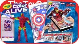 marvel avengers crayola color alive ac