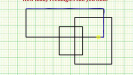 Determine How Many Rectangles in a Diagram of Overlapping Rectangles