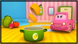 The Clever Cars  Learn Cooking With Vegetables - 3d Children's Cartoons