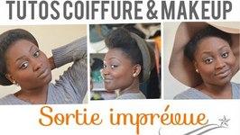 Coiffure Et Maquillage Pour Sortie Imprvue  Tutoriel