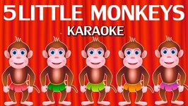 Five Little Monkeys Jumping On The Bed - Nursery Rhymes Karaoke Songs  ChuChu TV Rock n Roll