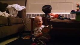 Cute - Dancing Baby Thrilled By Music Birthday Card