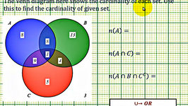 Ex: Determine Cardinality of Various Sets Given a Venn Diagram of Three Sets