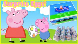 Peppa Pig Surprise Eggs Video For Children - Toy Box Magic EggVideos