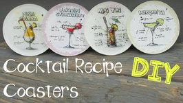 Cocktail Recipe Coasters DIY  Another Coaster Friday Craft Klatch