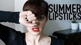 Summer Lipsticks - Elizabeth Street Cosmetics