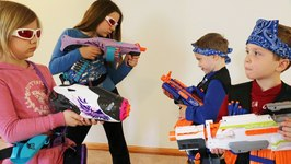Nerf War- Boys vs Girls