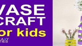 Cute Vase Craft For Kids