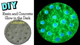 Resin and Concrete Glow in the Dark Coasters DIY  Another Coaster Friday Craft Klatch