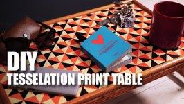 Mad Stuff With Rob  DIY Tesselation Print Table  Room Dcor Ideas