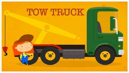 Doc McWheelie's Magic Paint Brush - TOW TRUCK  Children's Car Cartoons