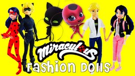 Miraculous Ladybug And Cat Noir FASHION DOLLS Marinette Adrien Ladybug Cat Noir Unboxing And Review