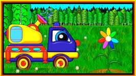 Truck Transformer - RAINBOW FLOWER Rescue - Helpy  Cartoons For Kids
