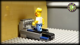 Lego Simpsons Homer Simpson Fail At GYM