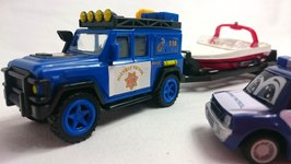 Kid's Toy Car Videos  Max's Boat Trip And Helicopter Rescue With Tow Truck  Videos For Kids