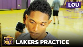 Lakers Practice - Lou Williams Prior To Lakers Vs Rockets