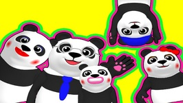 Finger Family Pandas Pop - Family Nursery Rhyme - Teach ESL - Preschool Kids - 3D Cartoon