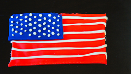American Flag Play-Doh