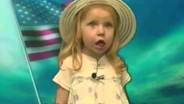 Best Clip of Adorable Little Girl Flubbing the Star Spangled Banner