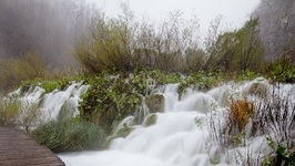 Plitvice Lakes - Croatia - Waterfalls Waterfalls And Rain