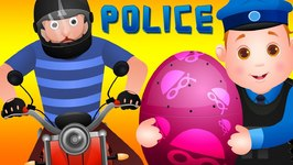ChuChu TV Police Chase Thief in Police Helicopter and Save Pet Animals in Giant Surprise Eggs for Kids