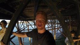 Climbing Under Brighton Pier